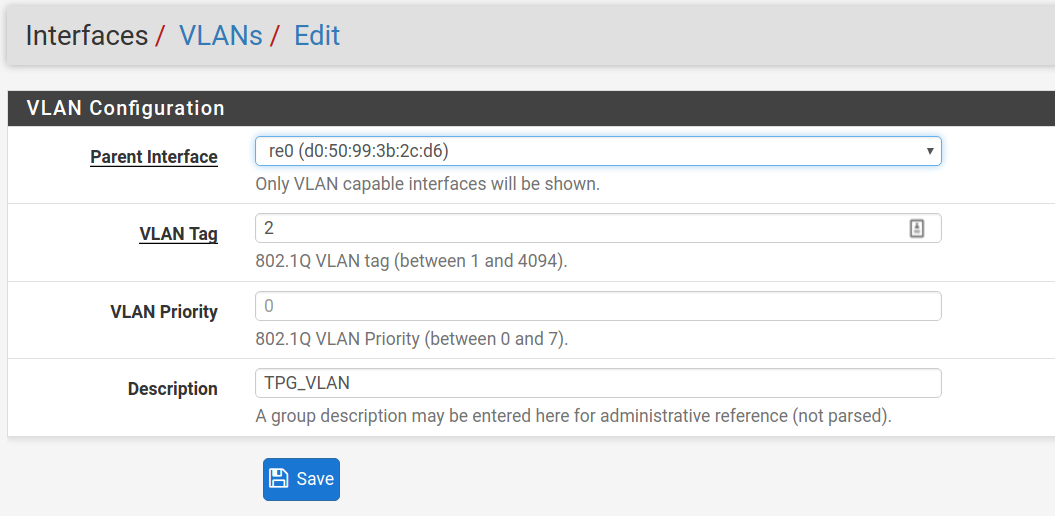 Setup pfSense for TPG NBN | VoltaicForge